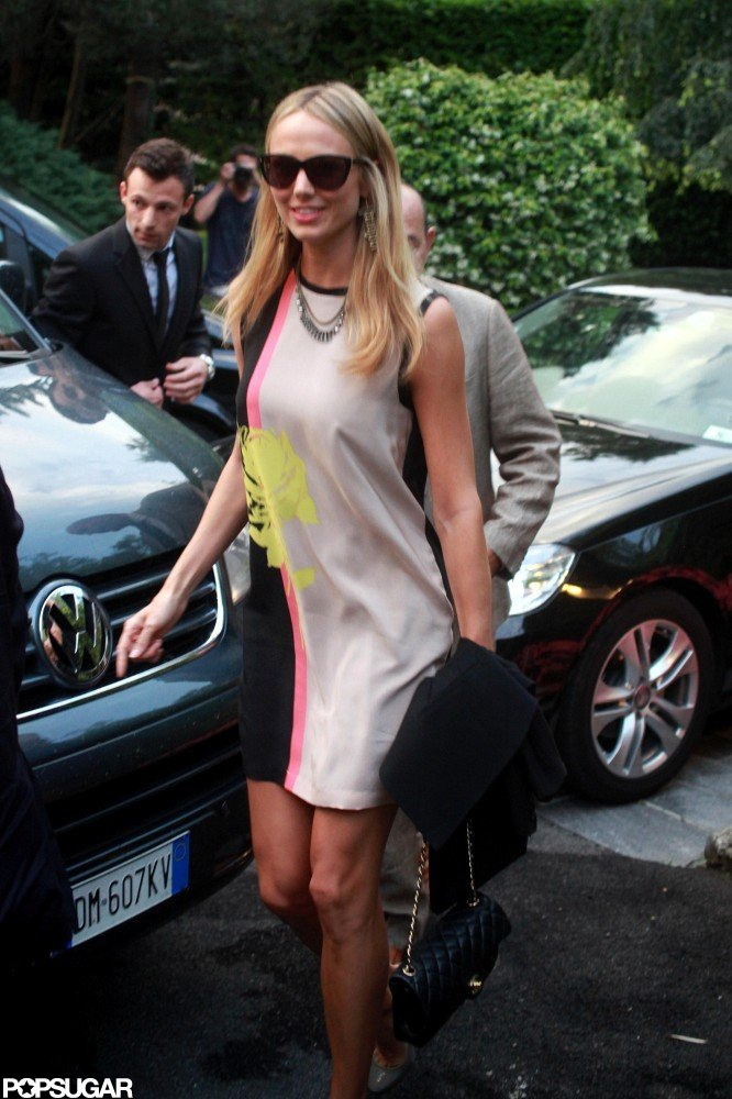 Stacy Keibler wore a dress in Italy.