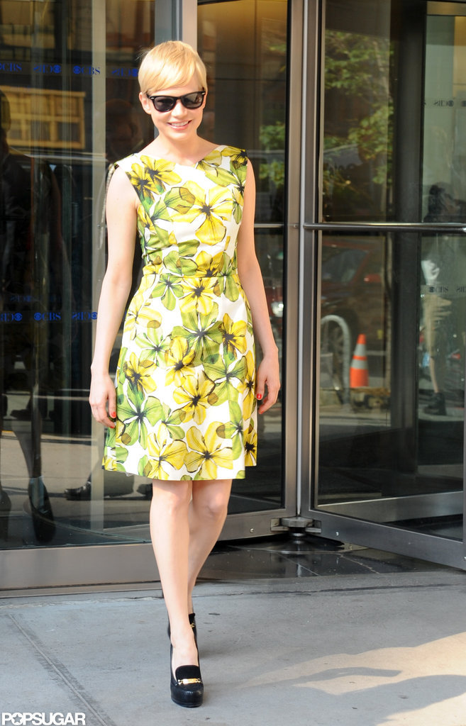 Michelle Williams wore platform pumps.