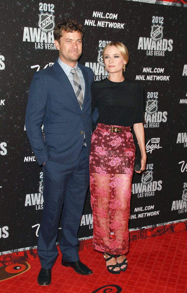 Diane Kruger and Joshua Jackson posed with their arms around each other at the NHL Awards.