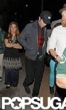Robert Pattinson left his friend's show in LA.