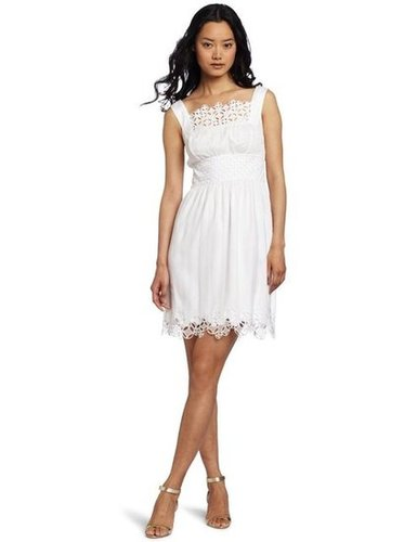 Catharine Malandrino White Eyelet Dress