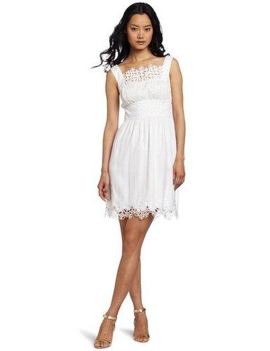 Catharine Malandrino White Eyelet Dress
