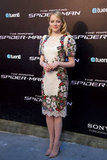 For the Madrid premiere, Emma indulged in a cool floral-embroidered puff-sleeve Dolce & Gabbana sheath. Since the dress provides quite the patterned kick, the starlet kept her hair, makeup, and accessorising low-key.