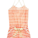 A nod to Summer's classic stripes, this adorable romper is one you might just pair with flip-flops at the beach (when you're not sleeping in it).
