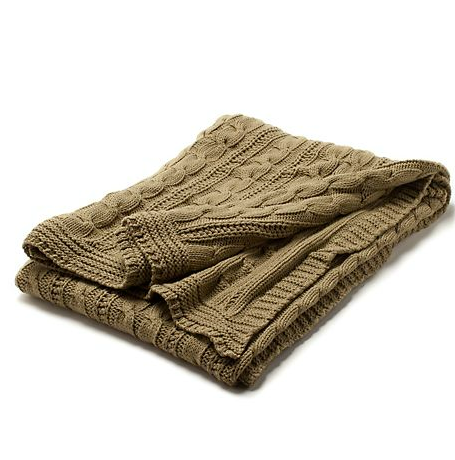 Chunky cable knits aren't just for preppy sweaters. We like the idea of setting this Fisherman's Throw in Hemp ($200) on the sofa for chillier Summer nights.