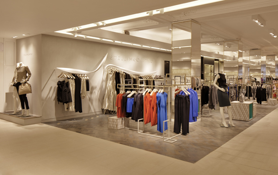 Stella mccartney opens a concession in harrods the fash pack for Door 4 harrods