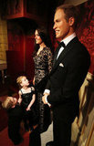 Little kids took in Will and Kate in wax form.