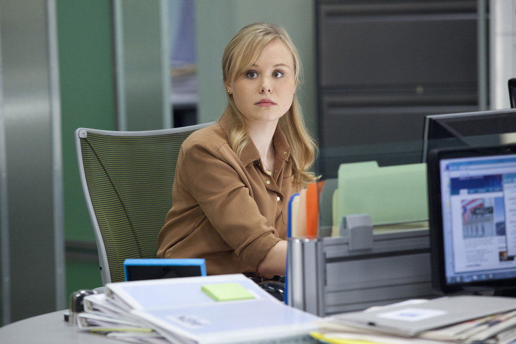 Alison Pill on The Newsroom.