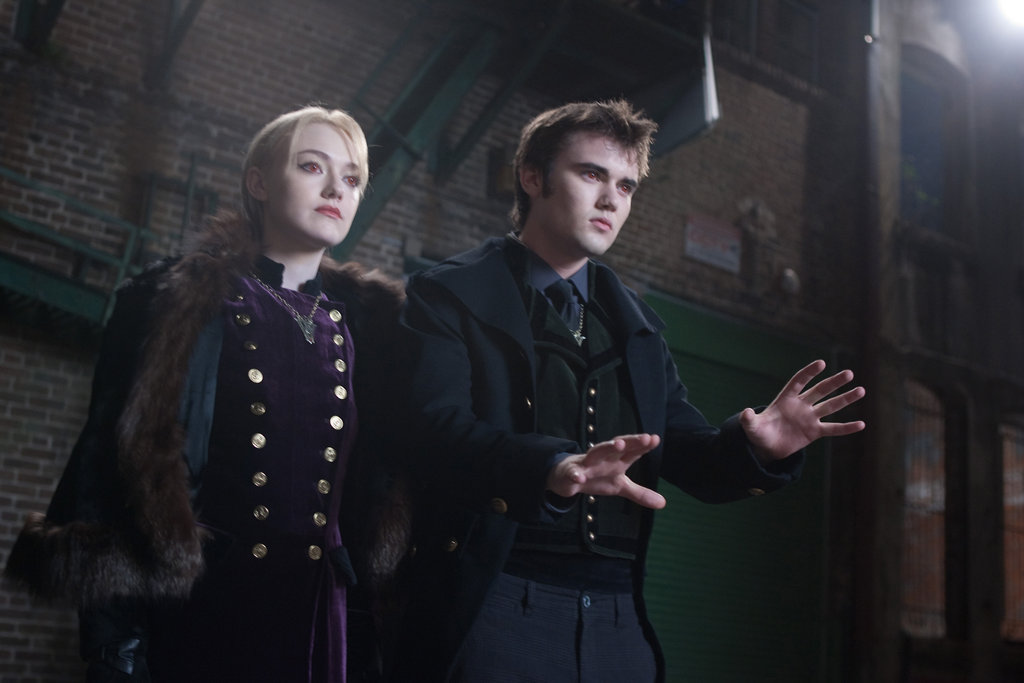 Dakota Fanning as Jane and Cameron Bright as Alec in Breaking Dawn Part 2.