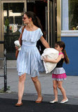 Katie Holmes and Suri Cruise crossed the street leaving Chelsea Piers in NYC.
