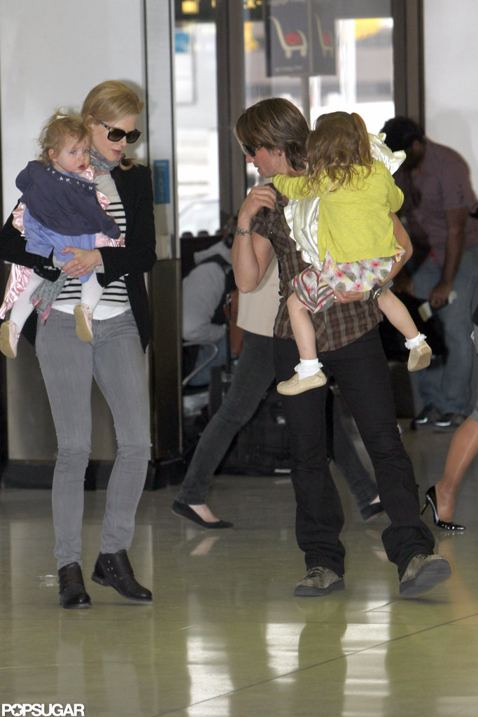 Nicole Kidman, Faith Urban, Keith Urban, and Sunday Urban took off from Sydney.
