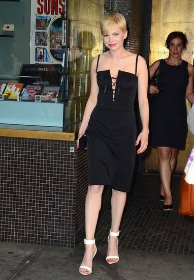 Michelle Williams wore a black Altuzarra in NYC.