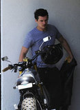 Orlando Bloom headed back to his bike after getting in a workout in West Hollywood.