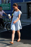 Katie Holmes departed from Chelsea Piers in NYC.