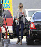 Cameron Diaz pumped her own gas.