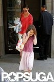 Katie Holmes headed out with Suri Cruise in NYC.