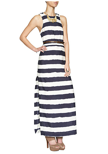 With classic-feeling Summer stripes and a totally elegant (and totally wearable!) maxi silhouette, this dress looks like it would come with a hefty price tag, but it doesn't.  BCBGeneration Side Slit Striped Maxi Dress ($83, originally $118)