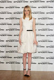 Emma returned to a simple LWD dressing MO, this time in a Jason Wu Resort '13 iteration, for her Rome photocall appearance. To add interest, she wore clear-infused cap-toe Christian Louboutin ankle-strap pumps.
