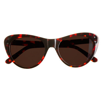 Channel on-the-go glam no matter where you're headed. These cool cat-eyes have an unexpected color twist for extra interest.  Selima Sun for J.Crew Sophia Sunglasses ($98, originally $128)