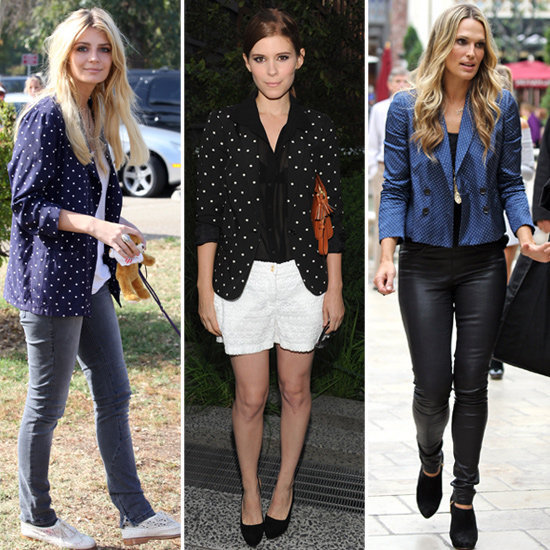 Love these polka-dot blazers — make one your own.