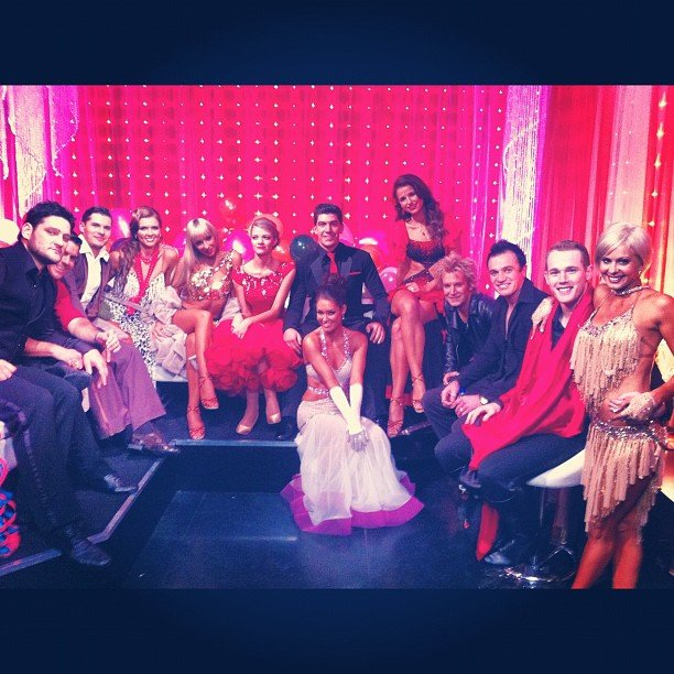 Erin McNaught reunited with the cast of Dancing With the Stars 2012 at the grand finale. Source: Instagram user mcnaughty