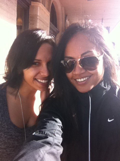 Jessica Mauboy hung out with her best friend. Source: Twitter user jessicamauboy