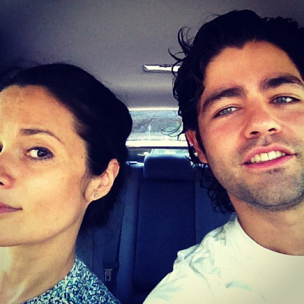 Adrian Grenier rode in style to Milk Studios in NYC. Source: Instagram user adriangrenier
