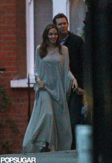 Angelina Jolie at Rasoi Restaurant in England Pictures
