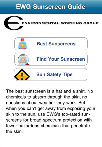 EWG Sunscreen Buyer's Guide (Free)