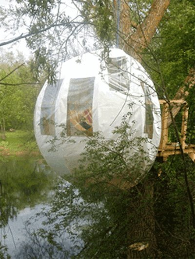 Try a lofty camping spot with this Treehouse (inquire for price).