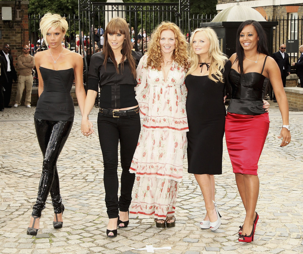 The Spice Girls posed for photos at the Royal Observatory in Greenwich, England, in June 2007.