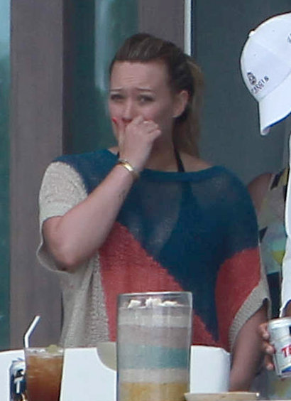 Hilary Duff Covers Up Her Bikini With a Sexy, Sheer Shirt