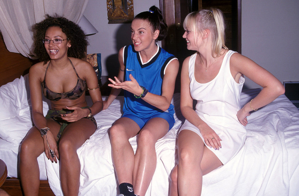 The Spice Girls hung out in their hotel room during an April 1997 promotional trip to Bali.