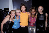 Mick Jagger and the Spice Girls posed for a photo in NYC in August 1997.