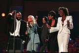 Luciano Pavarotti teamed up with the Spice Girls for his 1998 Pavarotti & Friends charity concerts in Italy.
