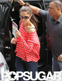Katie Holmes carried a copy of the book Brave Emily in NYC.