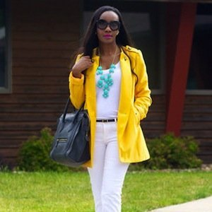 Yellow and White Street Style