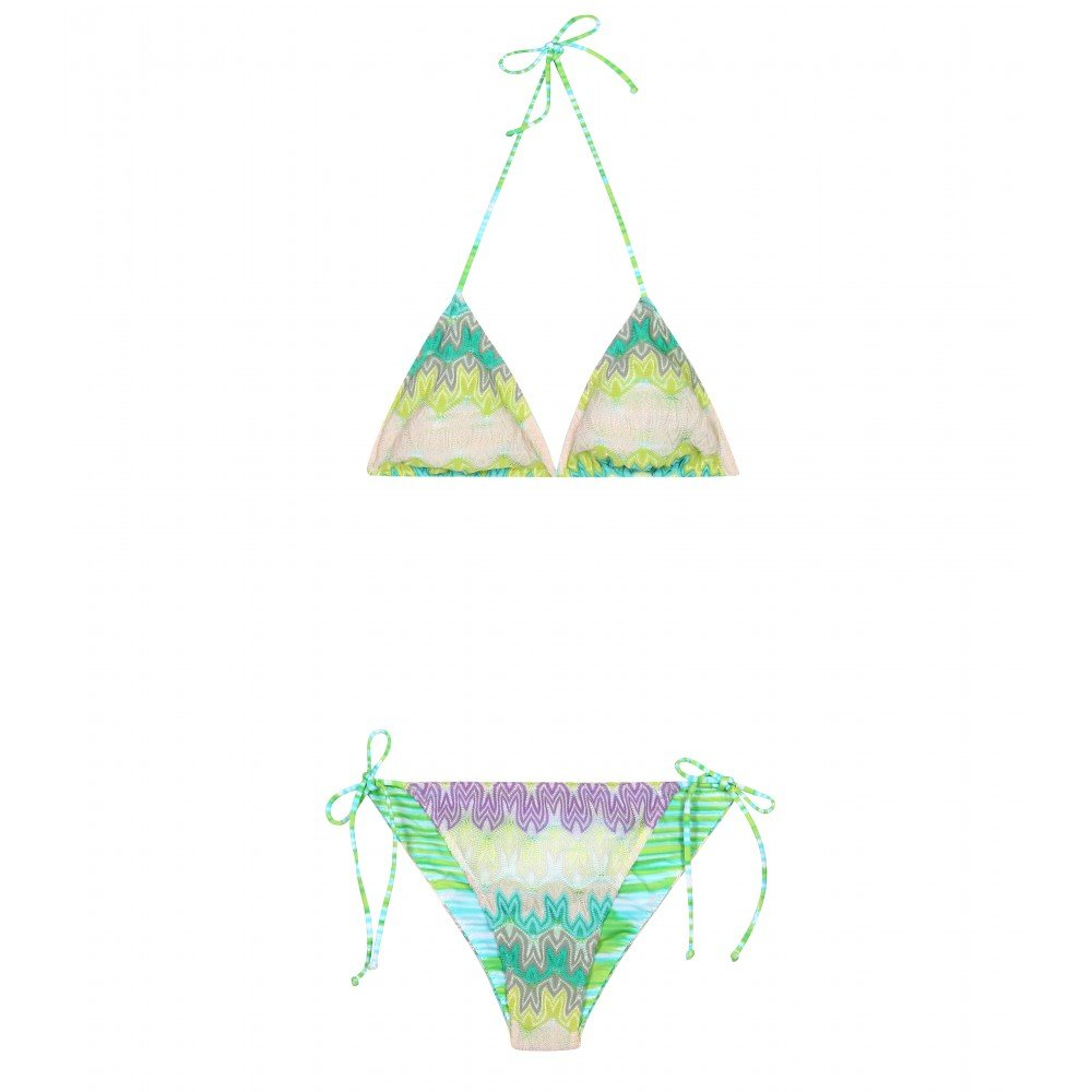 Nobody does crochet prints like Missoni, and we're loving the soft sorbet hues on this suit. Missoni Mare Haiti Reversible String Bikini ($256, originally $365)