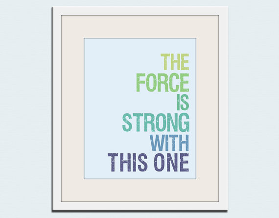 Wallfry Star Wars Typography Print ($18)