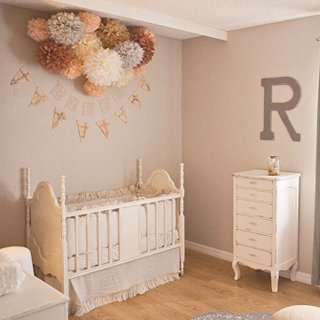 Peach and Gray Baby Girl Nursery