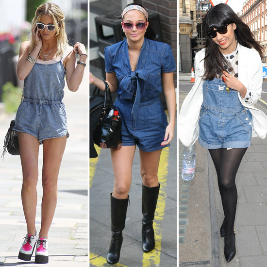 Celebrities Wearing Denim Playsuit Trend