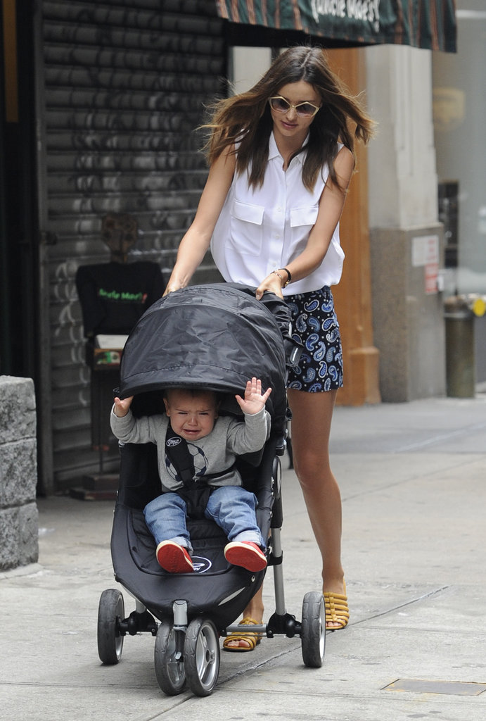 Flynn Bloom Throws a Tantrum During a NYC Stroll With Miranda Kerr