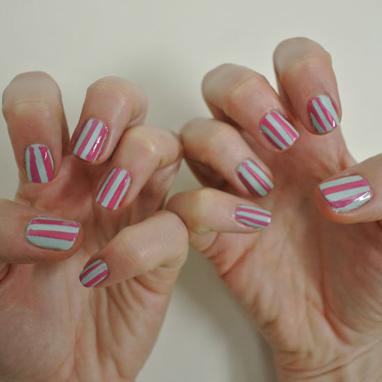 DIY Sticky Tape Manicure Using Nail Polish and Tape