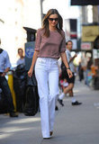 Miranda Kerr smiled in NYC.