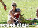Gwen Stefani and Zuma Rossdale looked cute together as they spent a day at the park in LA.