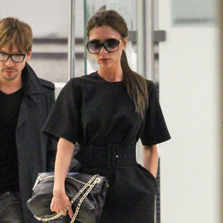 Victoria Beckham Pictures at LAX After Viva Forever Launch