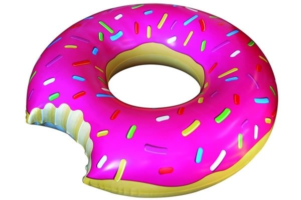 Gigantic Donut Pool Float ($19)