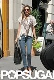 Miranda Kerr wore sunglasses in NYC.