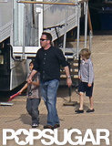 Pax Jolie-Pitt and Shiloh Jolie-Pitt were in the UK.
