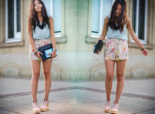 Sweet pastel hues can be a welcome change from Summer's vivid brights. Photo courtesy of Lookbook.nu